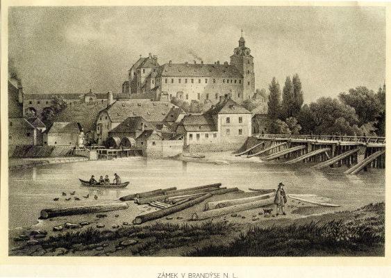 Brandýský zámek před přestavbou