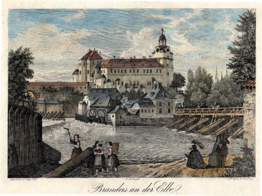 Rytina brandýského zámku