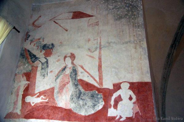 Fresky na zámku v Brandýse